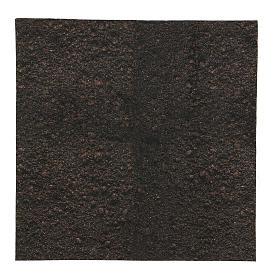 Carta terra scura plasmabile 30x30 cm per presepi s1