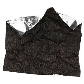 Carta terra scura plasmabile 30x30 cm per presepi s4