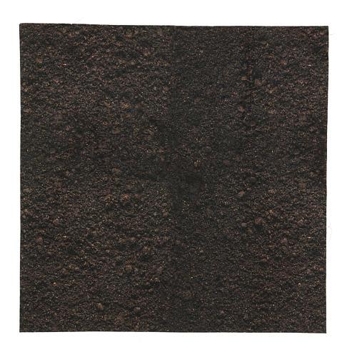 Carta terra scura plasmabile 30x30 cm per presepi 1