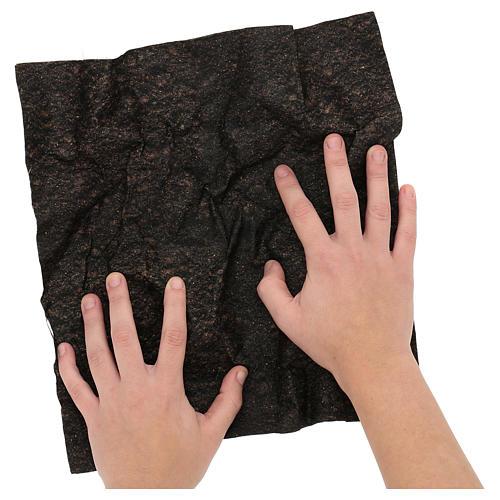 Carta terra scura plasmabile 30x30 cm per presepi 2