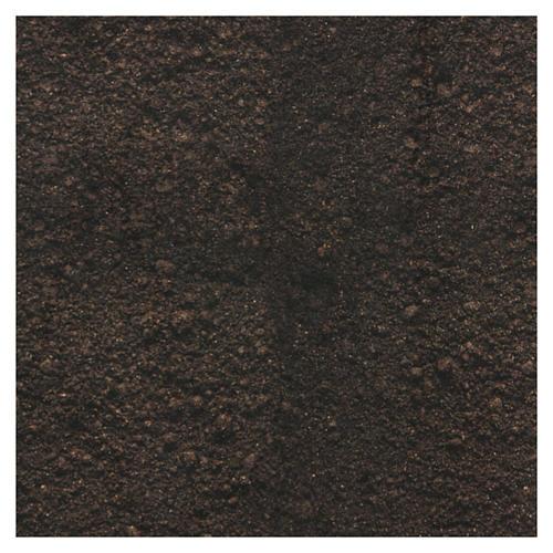 Carta terra scura plasmabile 30x30 cm per presepi 3