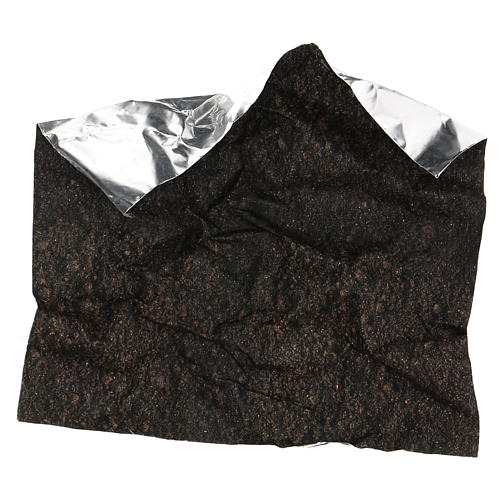 Carta terra scura plasmabile 30x30 cm per presepi 4