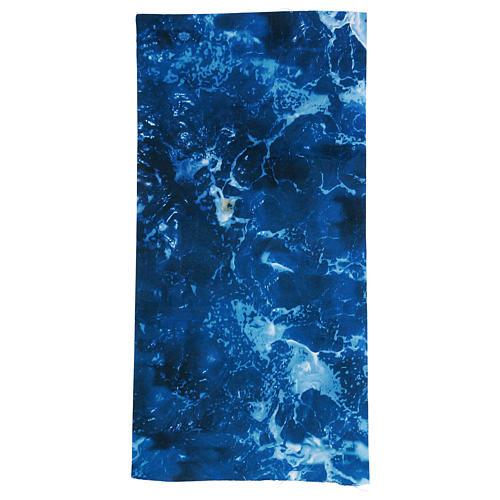 Modellierbares Papier für Krippe Wassereffekt 60x30cm 1