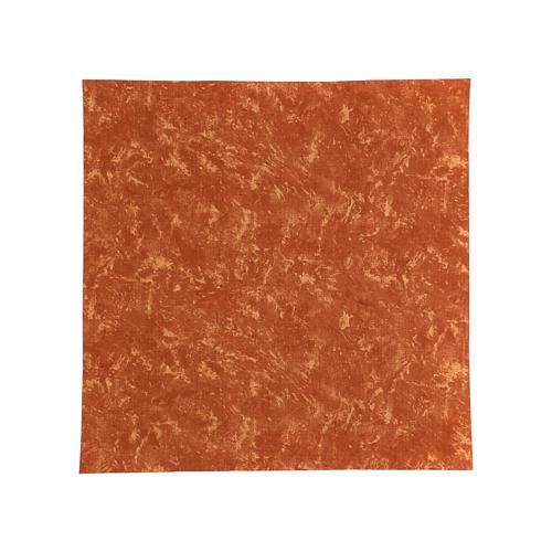 Papel tierra roja modelable agua 60x60 cm para belenes 1