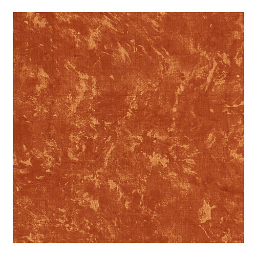 Papel tierra roja modelable agua 60x60 cm para belenes 3