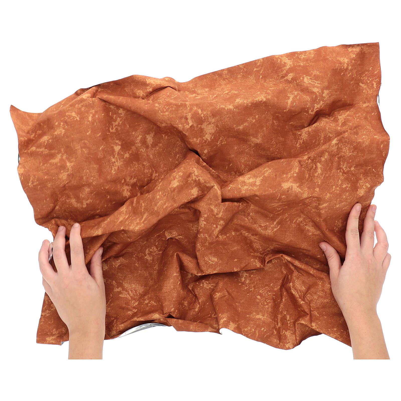 Carta terra rossa modellabile 60x60 cm per presepi 4