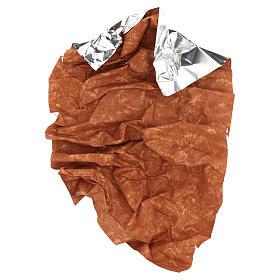 Carta terra rossa 120x60 cm modellabile per presepi s4