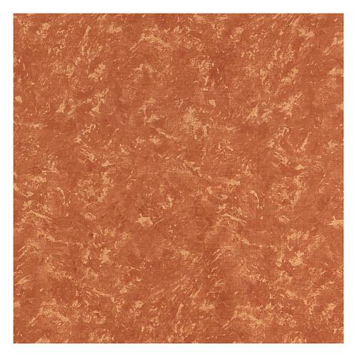 Carta terra rossa modellabile per presepi 120x60 cm 3