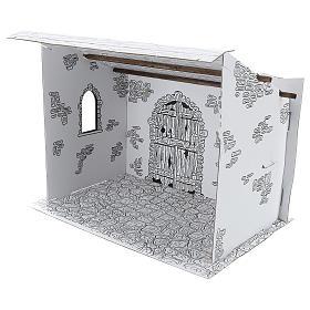 Cabane crèche en carton 3D DIY s3