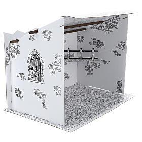 Cabane crèche en carton 3D DIY s4