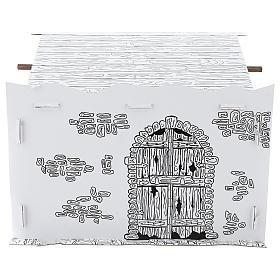 Cabane crèche en carton 3D DIY s5