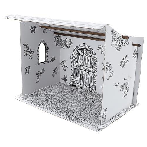 Cabane crèche en carton 3D DIY 3