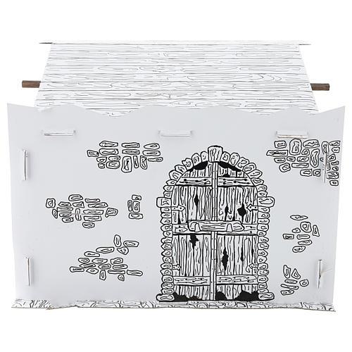 Cabane crèche en carton 3D DIY 5
