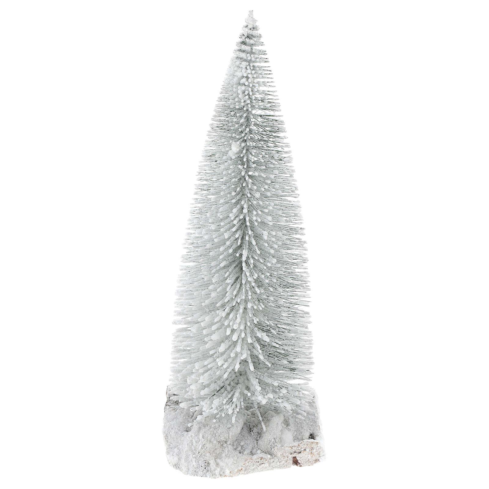 Pino nevado 10x5x10 cm belén 8-10 cm hecho con bricolaje 4
