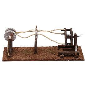 Rope maker equipment Nativity scenes 10 cm s1