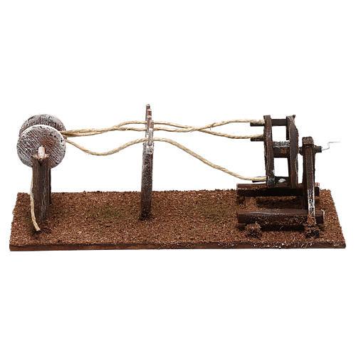 Rope maker equipment Nativity scenes 10 cm 1