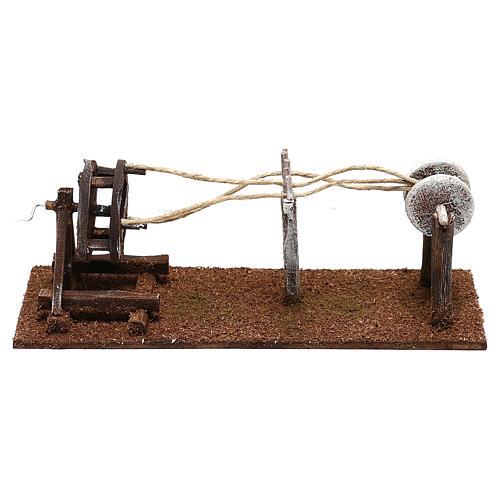 Rope maker equipment Nativity scenes 10 cm 4