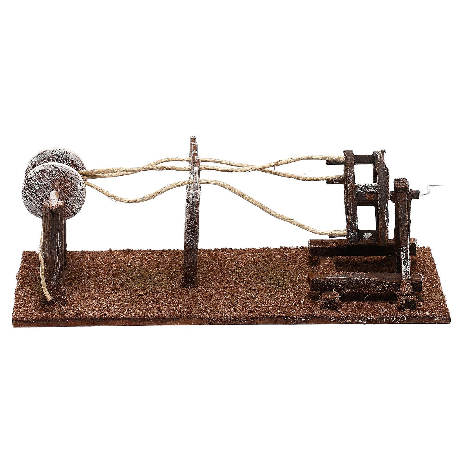 Attrezzo per lavoratore di corde presepe 10 cm 4