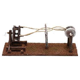 Attrezzo per lavoratore di corde presepe 10 cm s4