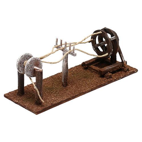Attrezzo per lavoratore di corde presepe 10 cm 3