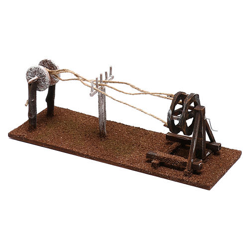 Rope maker equipment Nativity scenes 12 cm 2