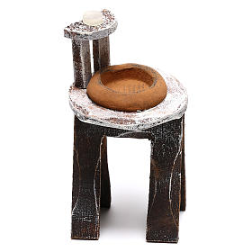 Wooden washbasin for Nativity Scene 8 cm s1