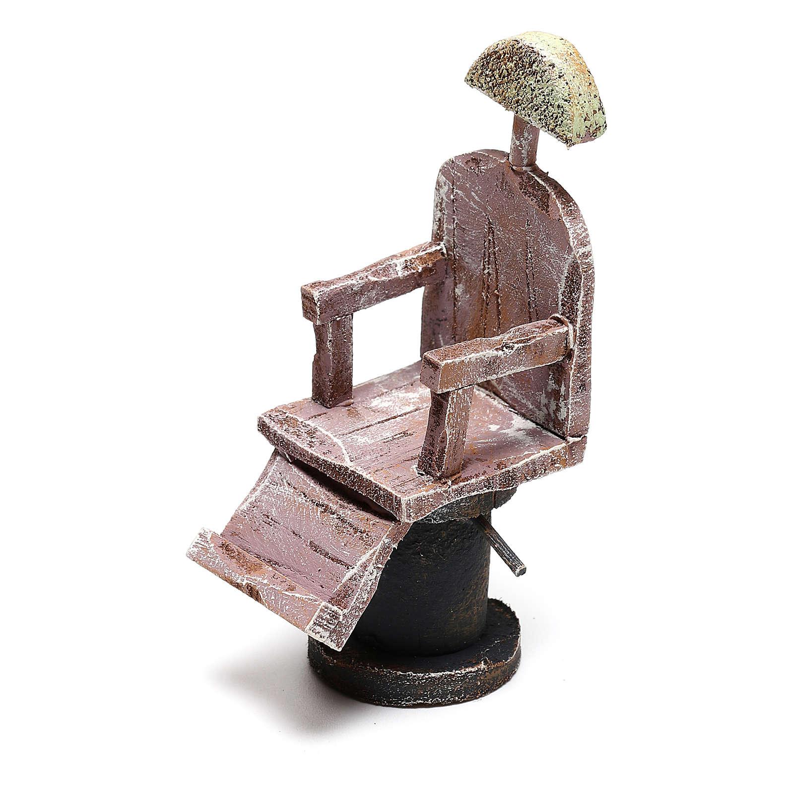 Barber chair Nativity scene 12 cm 4