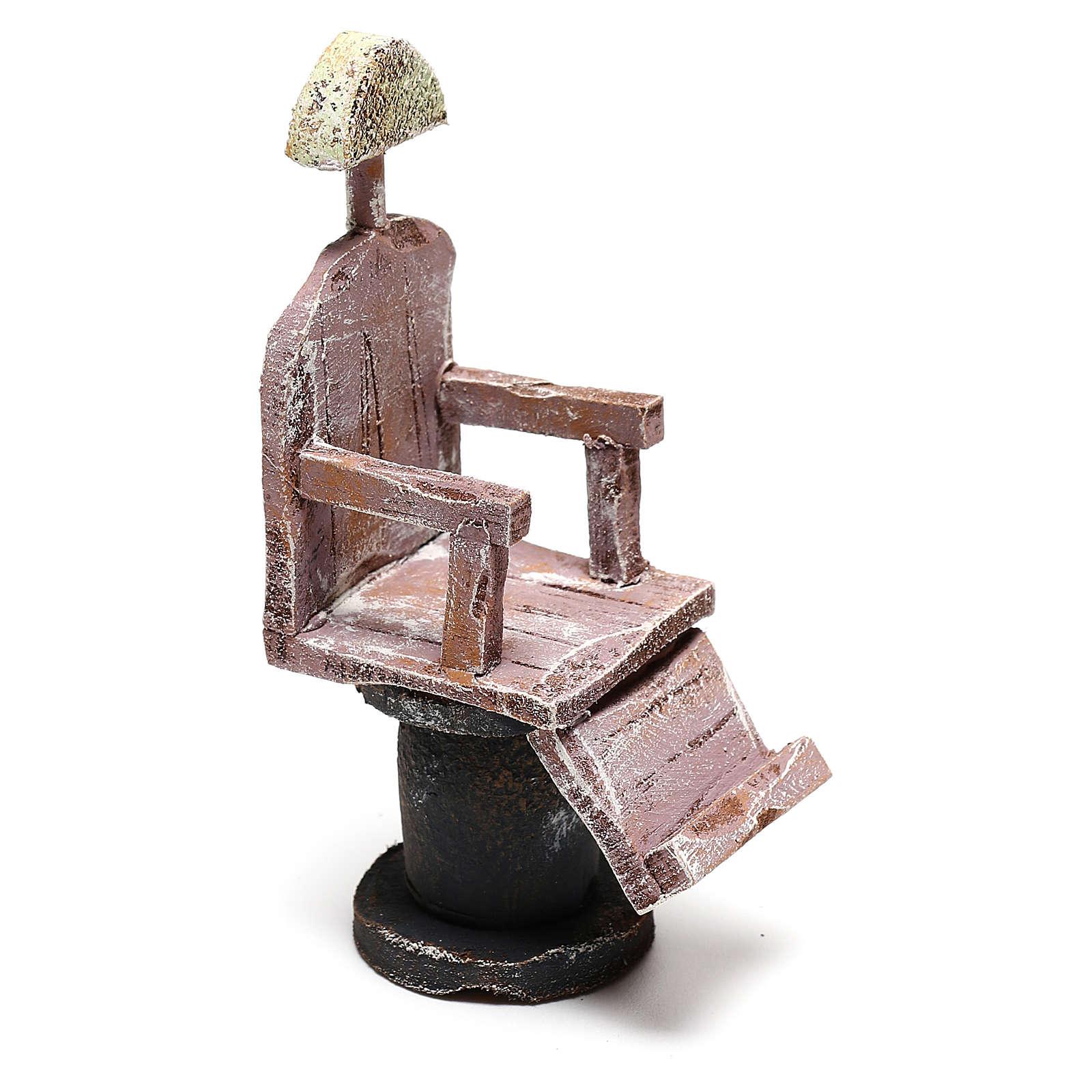 Silla barbero para belén 12 cm hecho con bricolaje 4