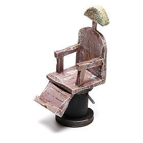 Silla barbero para belén 12 cm hecho con bricolaje s2