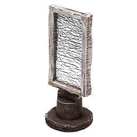 Rectangular wooden base mirror Nativity scene 10 cm s2