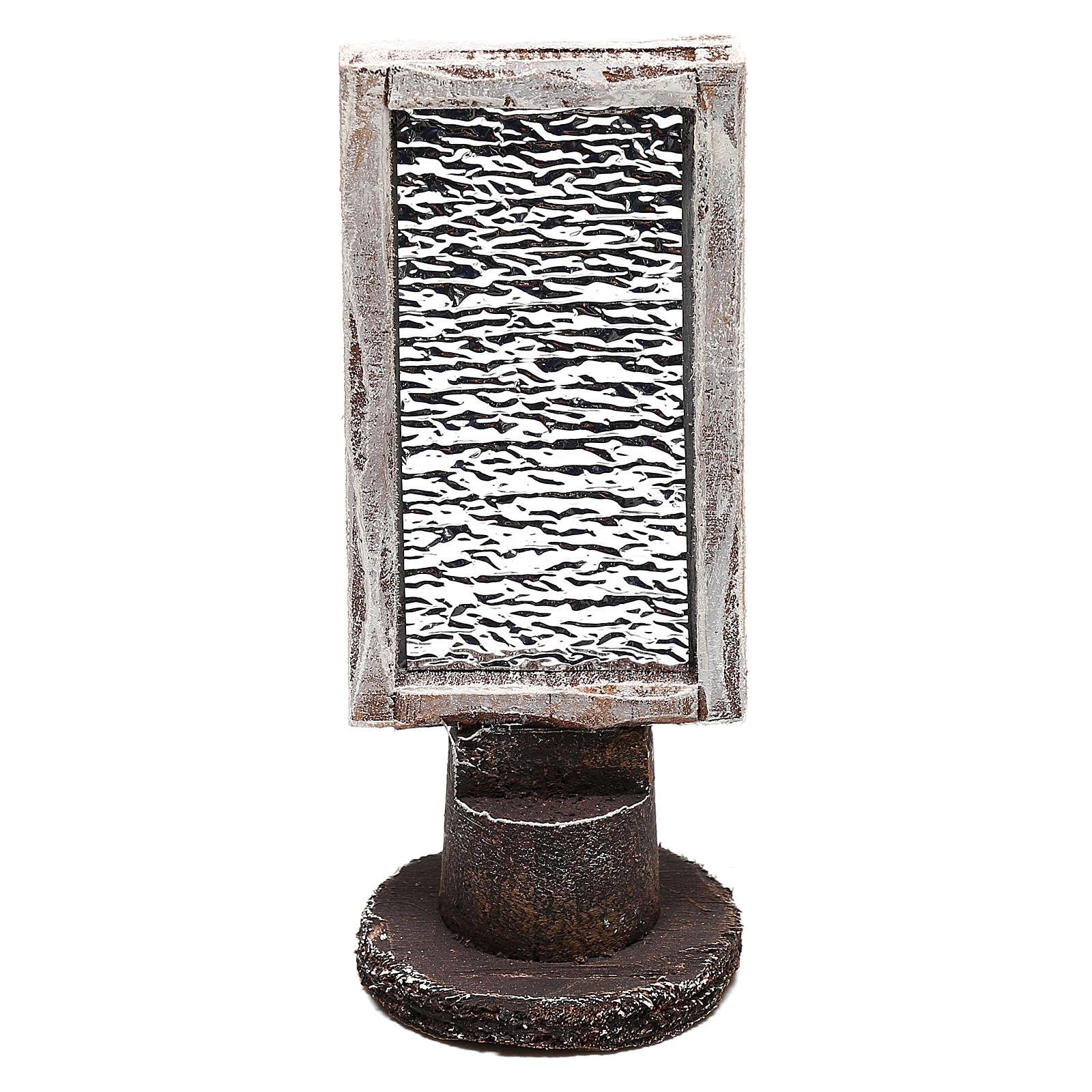 Specchio rettangolare con base presepe 10 cm 4