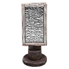 Specchio rettangolare con base presepe 10 cm s1