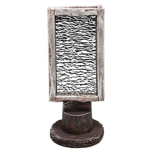 Specchio rettangolare con base presepe 10 cm 1