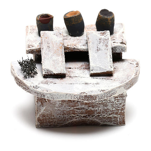 Escabel para limpiabotas para belenes de 10 cm 4