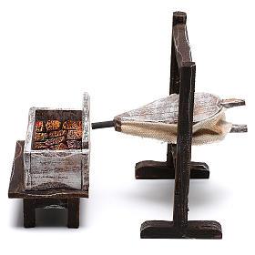 Forja del herrero belenes de 10 cm hecho con bricolaje s1