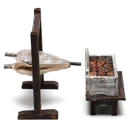 Forja del herrero belenes de 10 cm hecho con bricolaje 6