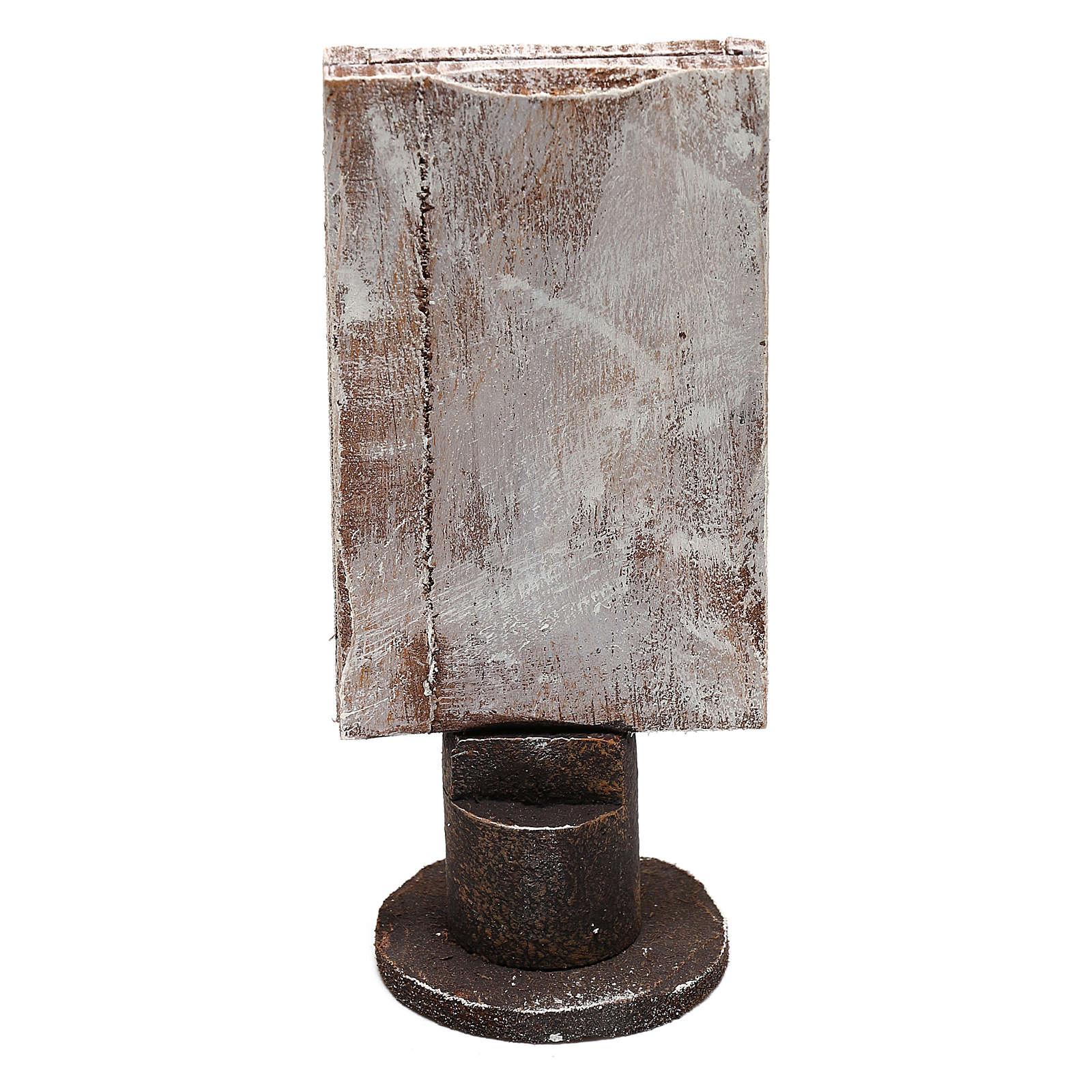 Espejo base madera rectangular belenes 12 cm 4