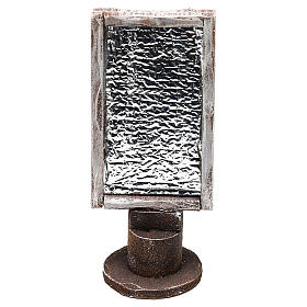 Espejo base madera rectangular belenes 12 cm s1