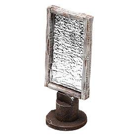 Espejo base madera rectangular belenes 12 cm s2