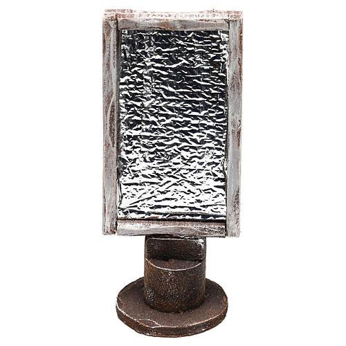 Miroir base bois rectangulaire crèche 12 cm 1