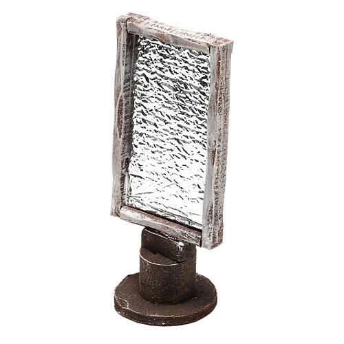 Miroir base bois rectangulaire crèche 12 cm 2