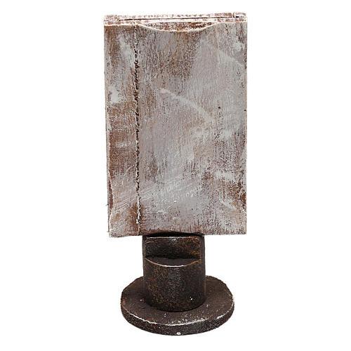 Specchio base legno rettangolare presepi 12 cm 3