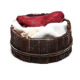 Basket with cloths Nativity scene 10 cm s3
