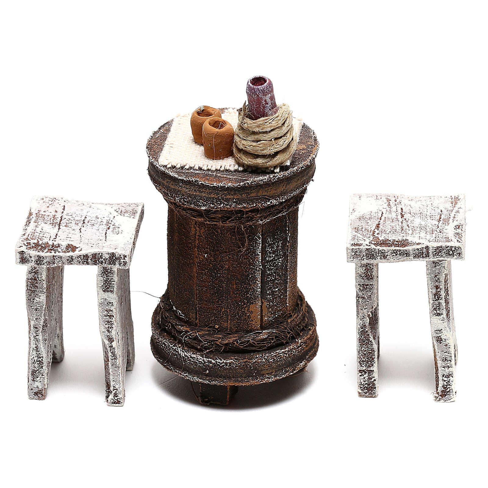 Table ronde avec tabourets crèche 10 cm 4