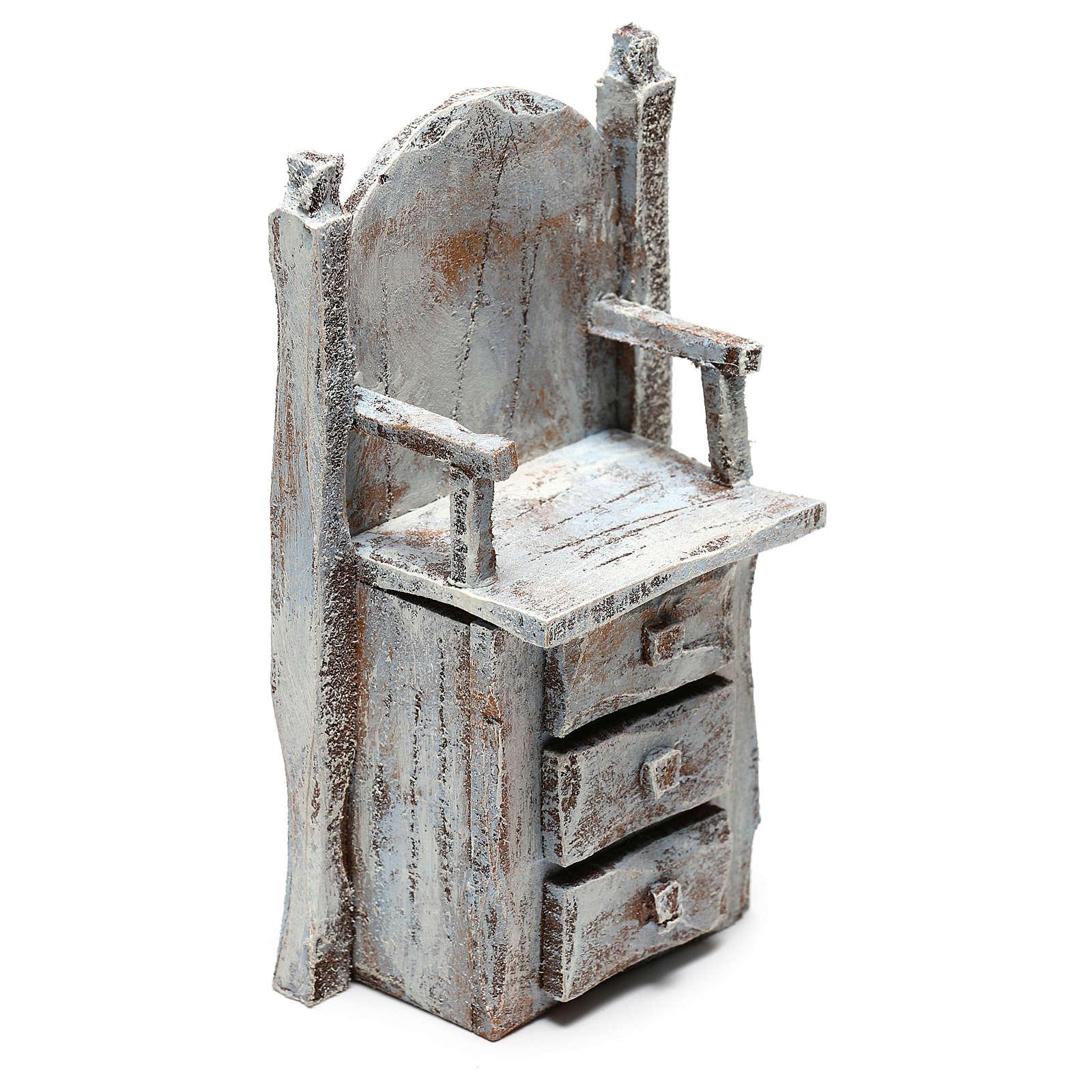 Chair for shoe shine Nativity scene 12 cm 4