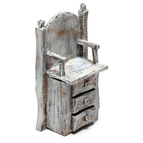 Chair for shoe shine Nativity scene 12 cm s3