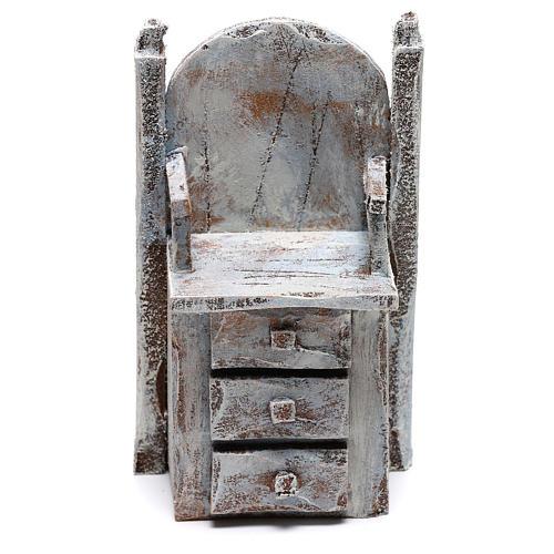 Chair for shoe shine Nativity scene 12 cm 1