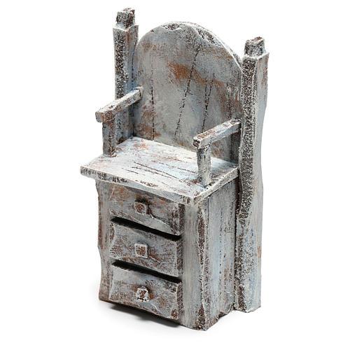 Chair for shoe shine Nativity scene 12 cm 2