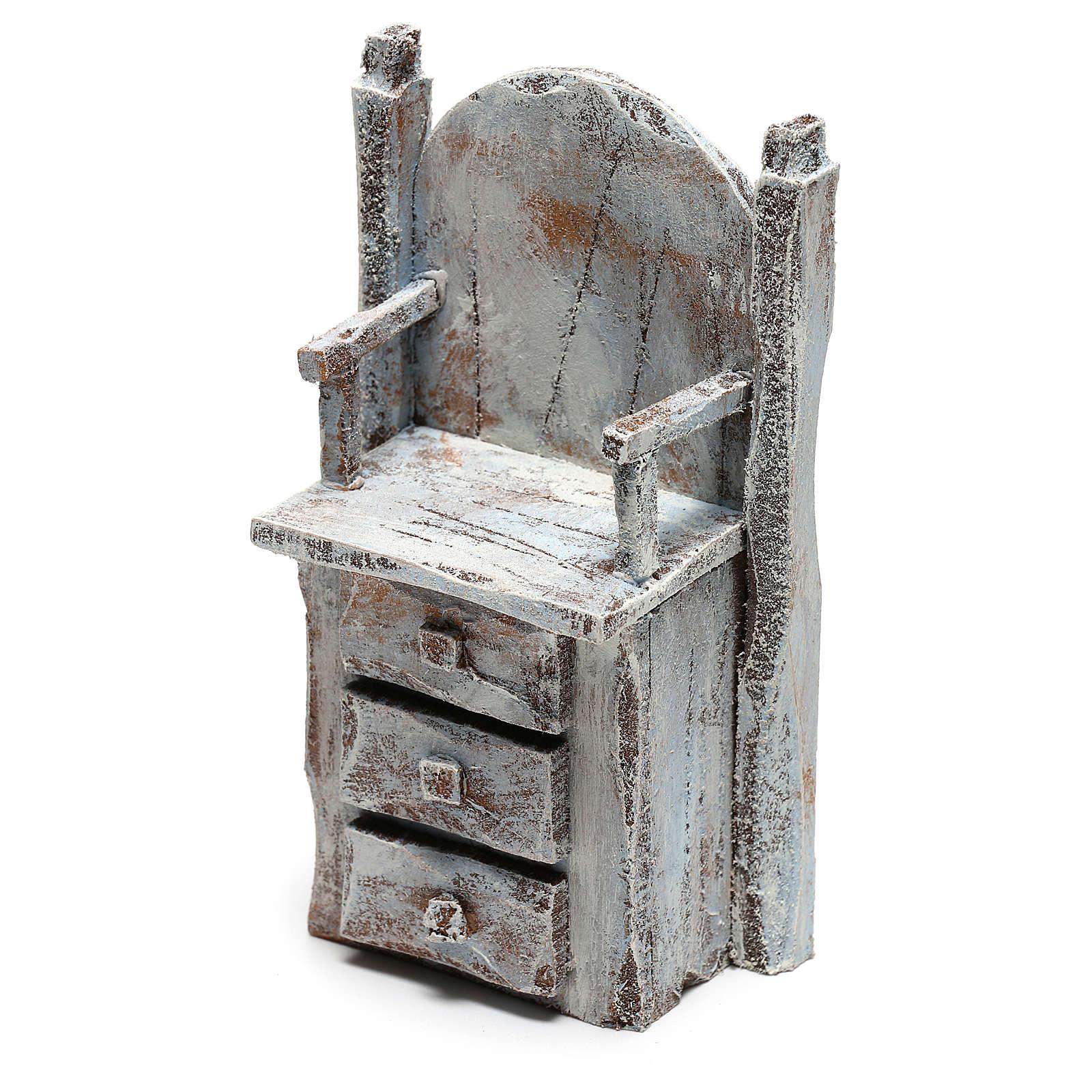 Chaise pour cireur de chaussures bricolage crèche 12 cm 4