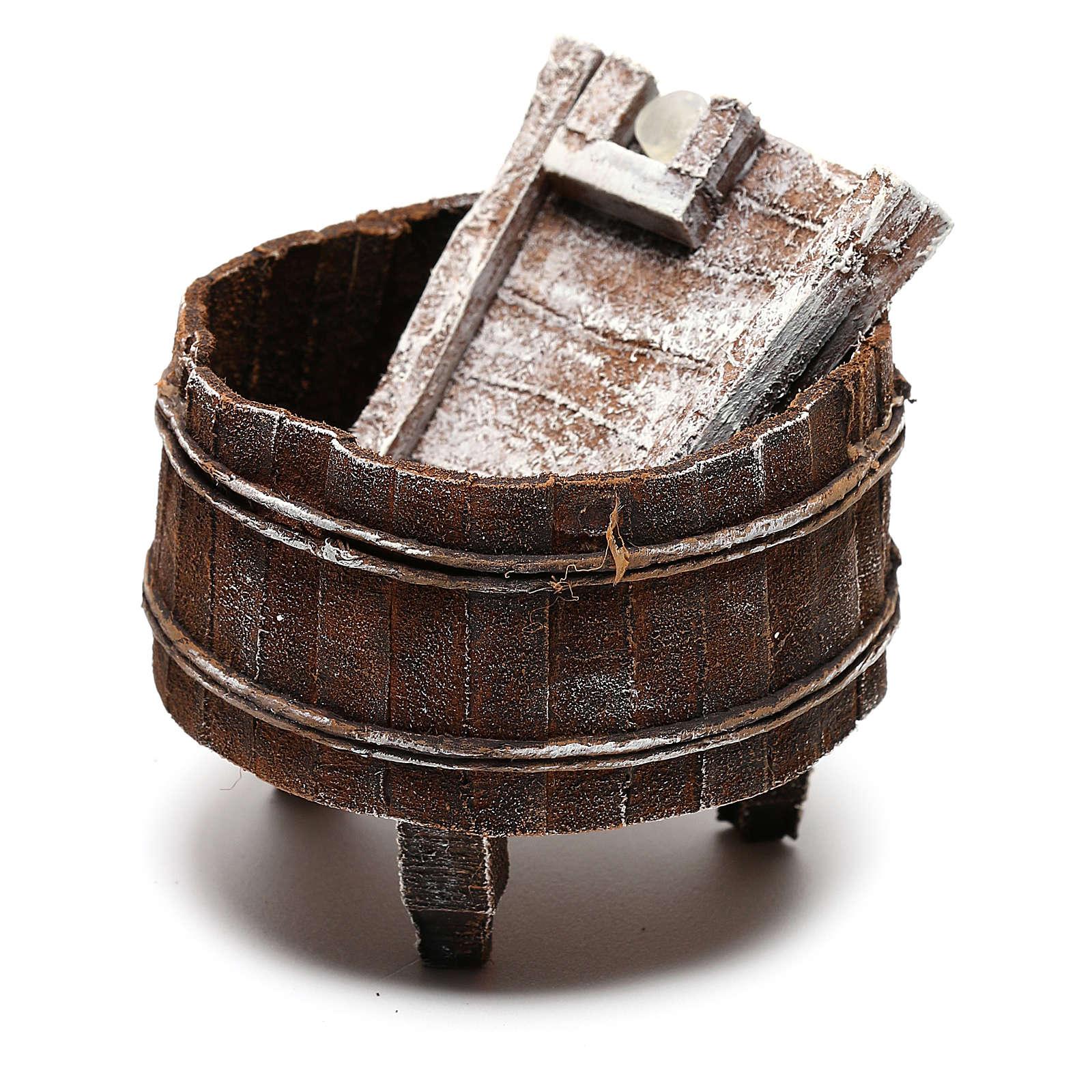 Lavadero madera belén 12 cm hecho con bricolaje 4